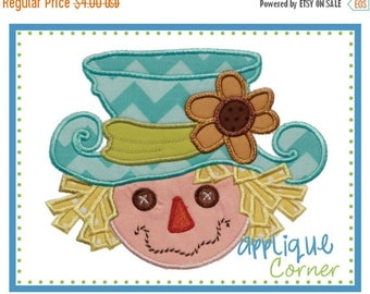 50% Off INSTANT DOWNLOAD Scarecrow Girl Fall Halloween applique design in digital format for embroidery machine by Applique Corner