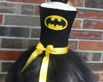 PRE HALLOWEEN SALE Batgirl tutu, Batman tutu, Batgirl tutu dress, Halloween tutu, Halloween Costume, Batgirl Birthday, Superhero Birthday,