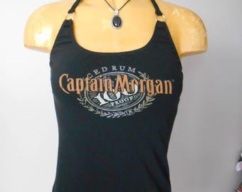 Captain Morgan halter top Reconstructed DIY Bartender Rum