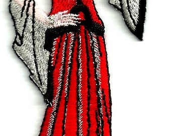 Art Deco Lady - Vintage Lovers - Fashion - Model - Iron On Embroidered Applique Patch (70B)