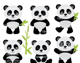 ON SALE INSTANT Download. Panda clipart. Cpan_6. Personal and commercial use.