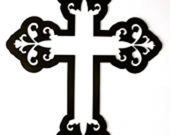 Cross, Cross Metal Sign, Decorative Cross, Metal Sign, Religious, Gift