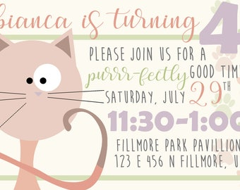 KITTY BIRTHDAY INVITATION