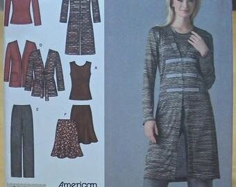FREE SHIPPING! Simplicity 3634 complete womens outfit sewing pattern Sizes 10-18 UNCUT