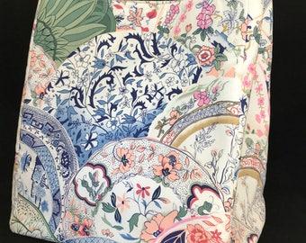Tote Bag in Fine China Print