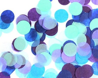 CONFETTI / 1000pc. Purple, Mint, Tiffany, & Blue Tissue Paper Confetti / Mermaid Party / Under the Sea / Engagement Party / Photoshoot
