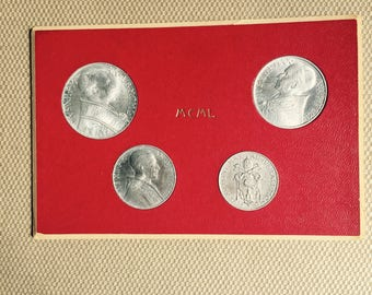 Vatican City Holy Year 1942 4 Coin Mint Set Pope Pius XII Original Holder
