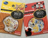 50 pcs Japanese Disney Stickers (Pick 1): Winnie the Pooh or Mickey & Friends