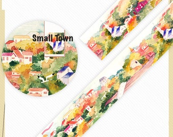1 Roll of Limited Edition Washi Tape: Beautiful Small Town