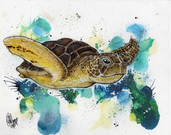 "Sea Turtle ""8x10"""