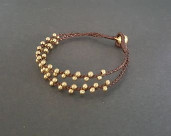 Brass Braid Thin  Bracelet