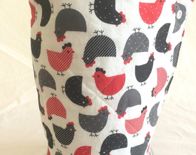 Unpaper towels, Roll of 12 chicken cotton terry cloth kitchen towels, Snap together towels, cotton napkins, Reusable paper towels