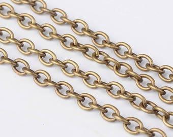 Bulk Chain Bronze Chain Chains For Necklaces Wholesale Chain Cross Chain 10 Feet BULK Chains