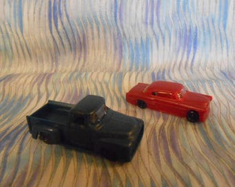 Two Vintage Miniature Car and Truck-Plastic