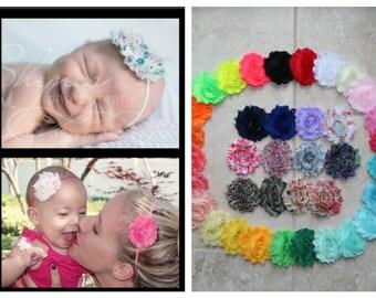 YOU PICK 5 Baby Headband, Shabby Chic Headband Set, Infant Headband, Newborn Headband