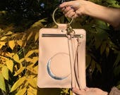 READY TO SHIP- Eclipse Ring Crossbody/Clutch Natural