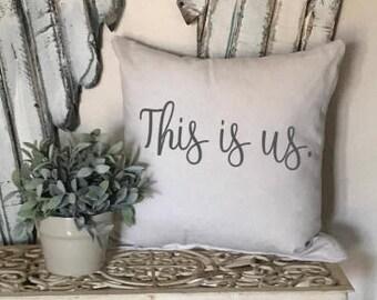 This is us pillow, bedroom decor, farmhouse decor, throw pillow