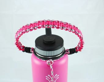 Pink Camo & Hot Pink Color Paracord Handle