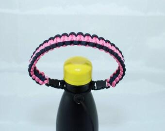 Black & Rose Pink Color Paracord Handle