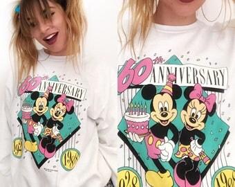 VTG Mickey & Minnie Anniversary Sweatshirt