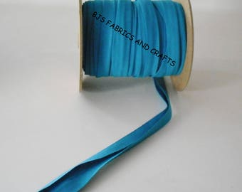 """TURQUOISE Bias Tape 1/2"""" EXTRA Wide Double Fold Bias Tape US Made 12 Yds"""