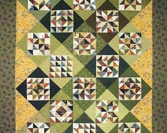 "Lori Smith From My Heart to your hands Quilt Pattern ""Sarahs Four Patch Sampler Quilt"