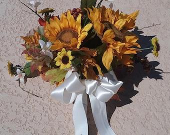 Fall Bridal Sunflower Bouquet