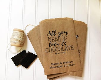 Wedding Favors - Wedding Favor Bags - Candy Bags- Cookie Bags - Bridal Shower Favors - Set of 25 Candy Buffet Bags - Wedding - Favor Bags
