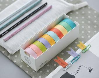 Solid Color Washi Tapes - Japanese Washi Tape - Masking Tape - Deco Tape - Washi Paper - Filofax
