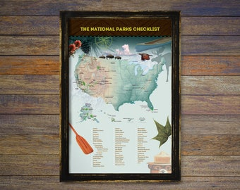 Map Of All National Parks Us And Canada Globalinterco - Map of all national parks us and canada