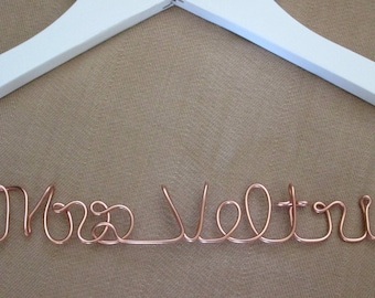 Satin wedding dress hanger