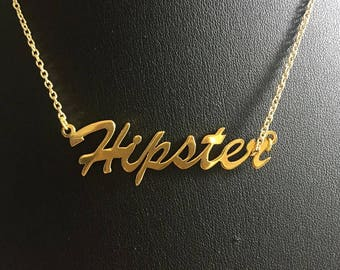 "16"" 'Hipster' necklace"