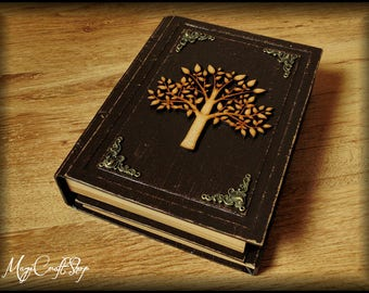Diary - Book of Shadows TREE OF LIFE - practical magic style - different colors and customizable - medium size 8,67x5,91 inch (22x15 cm)