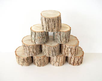 5 Sassafras Natural Wood Place Card Holder Rustic Wedding Table Decor Table Number Holder
