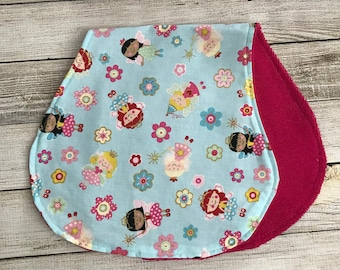 Girl Burp Cloth