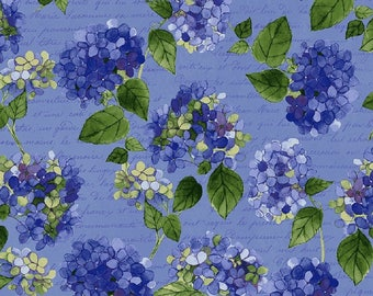 HEAVENLY HYDRANGEAS designed by Sue Zipkin for Clothworks - bty - #Y2255-88