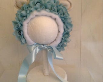 Newborn lamb flower bonnet photography photo prop