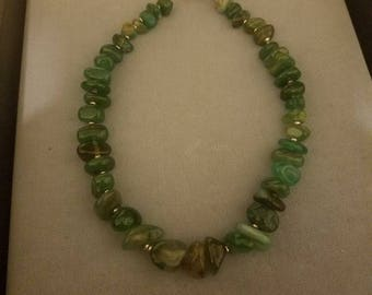 Green Chip Bead Necklace