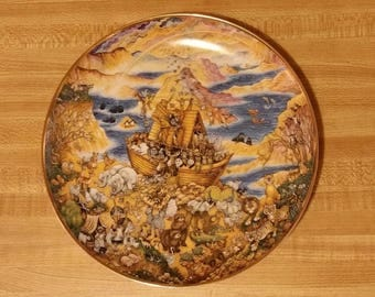 """Franklin Mint """"Two by Two"""" Bill Bell numbered B4499 Decorative Plate Noah's Ark"""