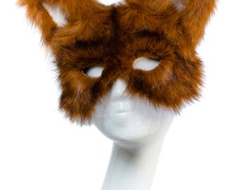 HERITAGE FOX - Fur Animal Masquerade Mask