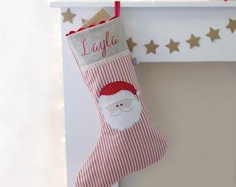 ON SALE Personalised Santa Christmas stocking