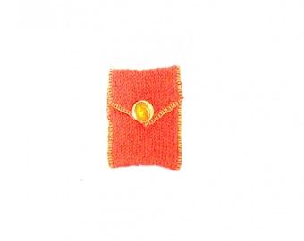 Case, mobile phone bag orange