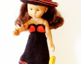 Dress for Halloween doll. Hand knitted
