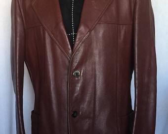 Peruzzi 1970's Leather Jacket