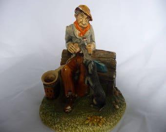 "Naturecraft England ""Hopeful"" No. 804, Hobo Man With His Dog"
