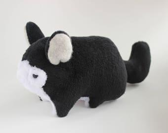 Chinchilla Stuffed animal chinchilla plush stuffed toy Chinchilla gift Chinchilla decor  Chinchilla Pet portrait Black Chinchilla plushie