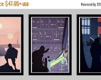 20% OFF SALE Star Wars A Hero's Quest Set of 3 Posters