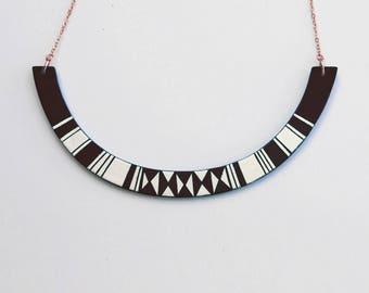 HALO Necklace Black  • choker • géométric • minimalist • summer jewels • gold • colorful •