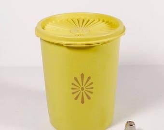 Tupperware Servalier Canister Harvest Gold Small Tupperware Canister 811-3 Vintage Tupperware