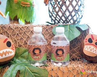 Maui Moana Water Bottle Labels - Instant Download